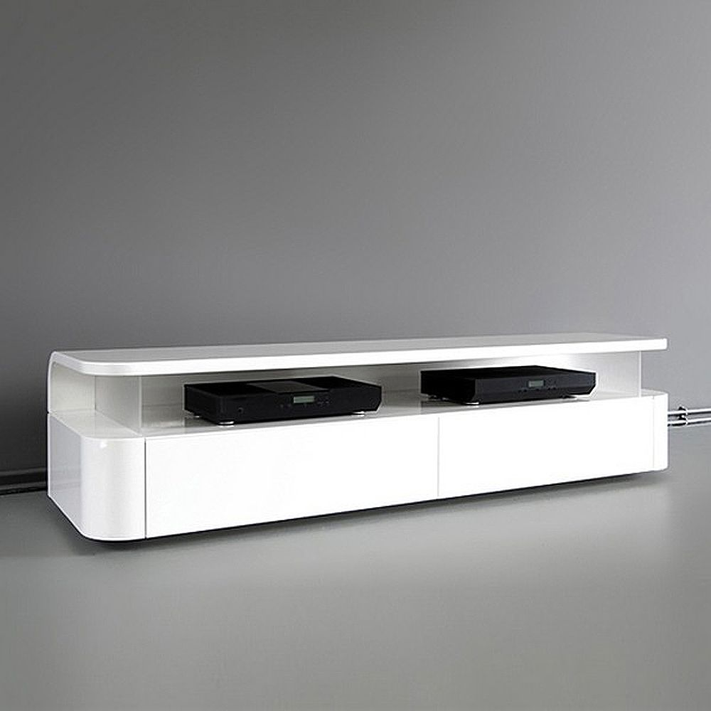 contemporary tv furniture design in white color furniture minimalist gadges by ronald knol designer - Modern Furniture White