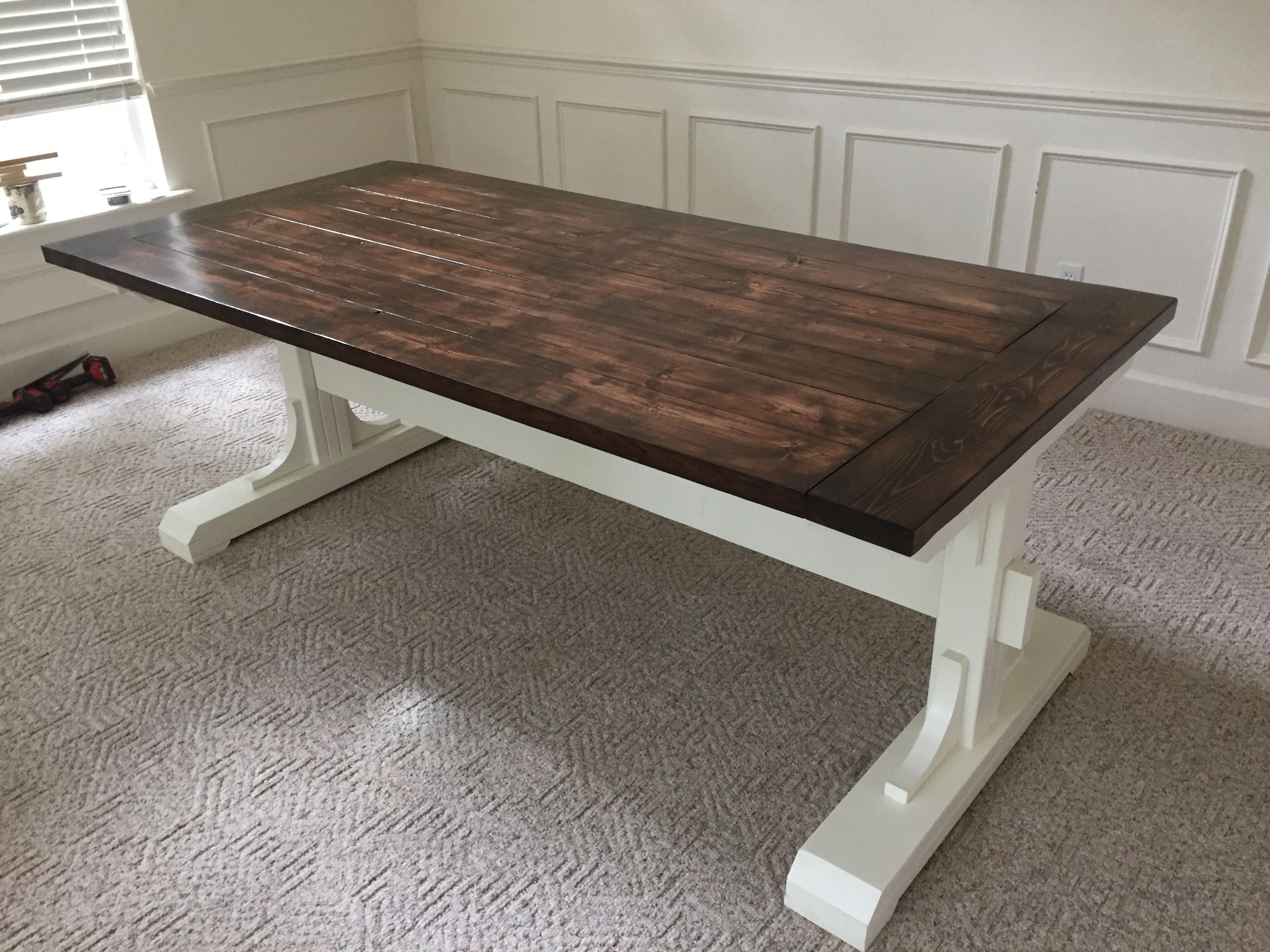 Ana White | Double Pedestal Farmhouse Table   DIY Projects