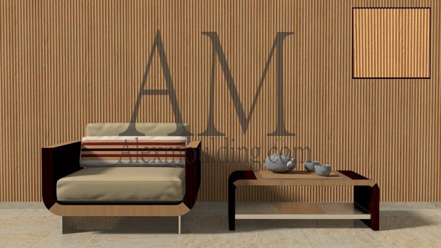 3d Vertical Fluted Paneling 3d Textured Wall Panels