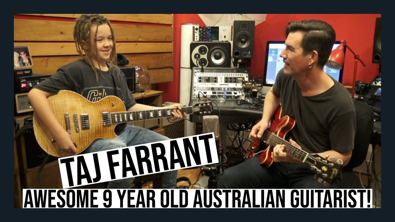 9 Year Old Guitarist Taj Farrant Interview And Jam Guitarist 9 Year Olds Interview