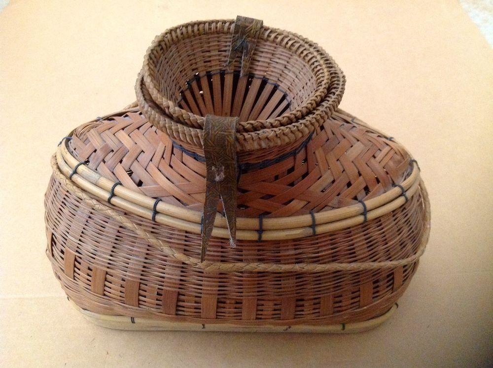 Vintage Philippine Handmade Fish Trap Basket Authentic   Philippines ...