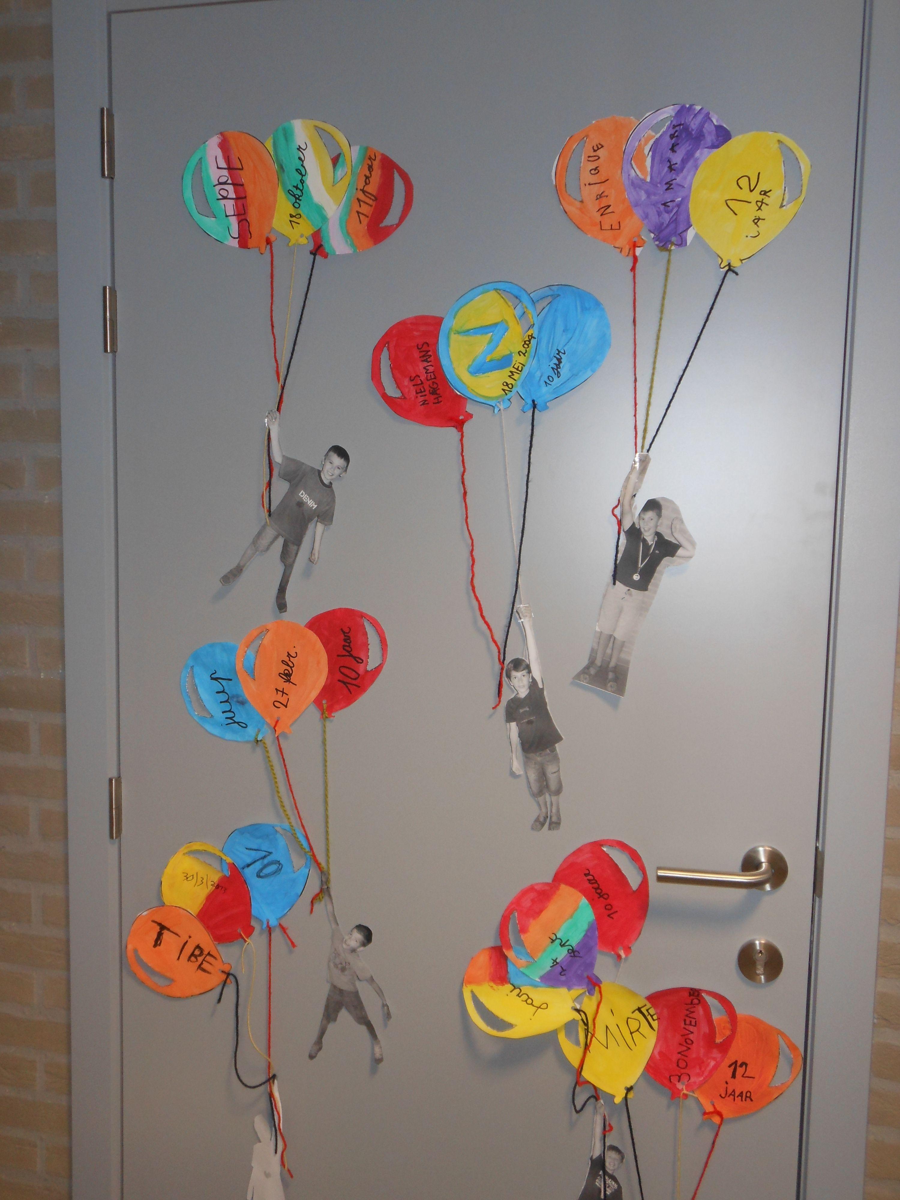 Verjaardagskalender ballonnen | KALENDER | Pinterest | School