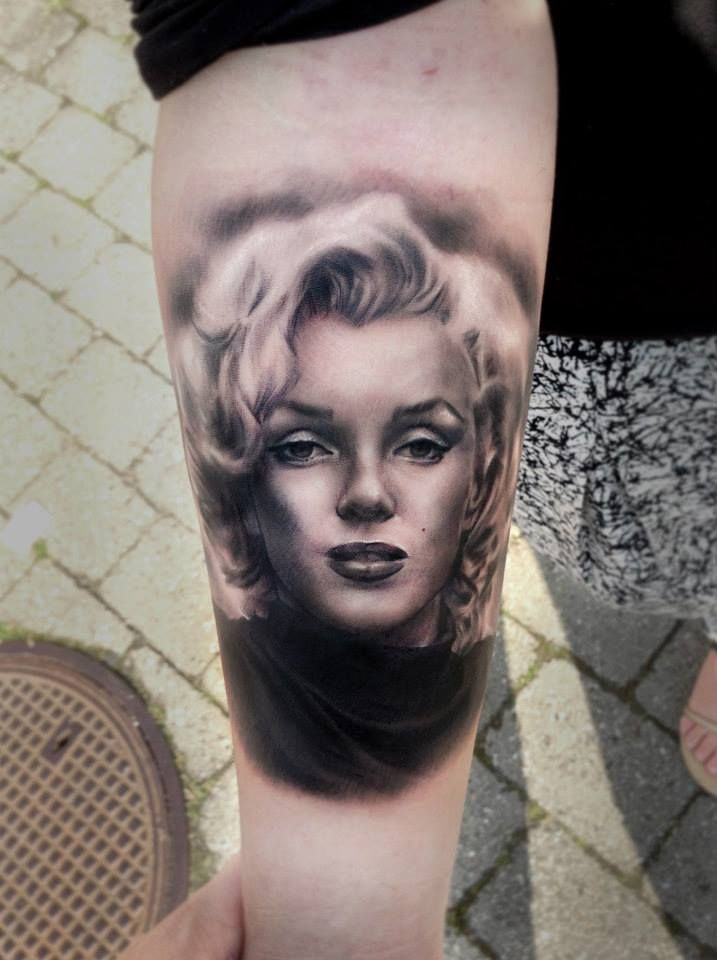 cc248e4a6 Marilyn Monroe tattoo by Line Marielle Kloosterman | Tattoos ...