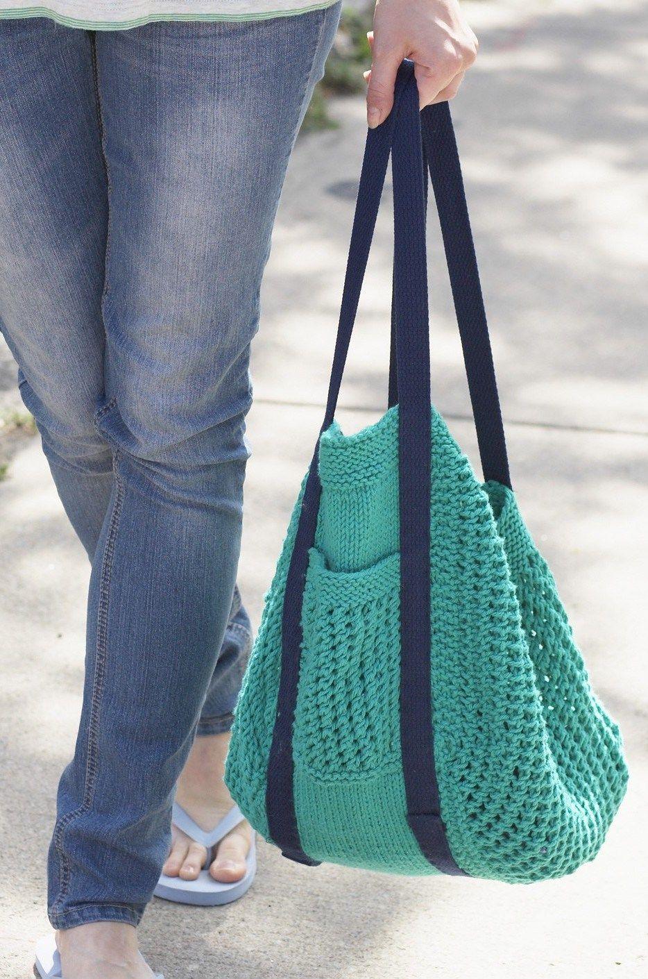 Free knitting pattern for Go Green Market Bag | Knitting - Bags ...