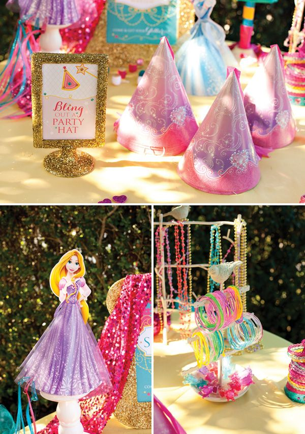 Sparkly Disney Princess Dream Party {+ Free Printables #disneyprincess