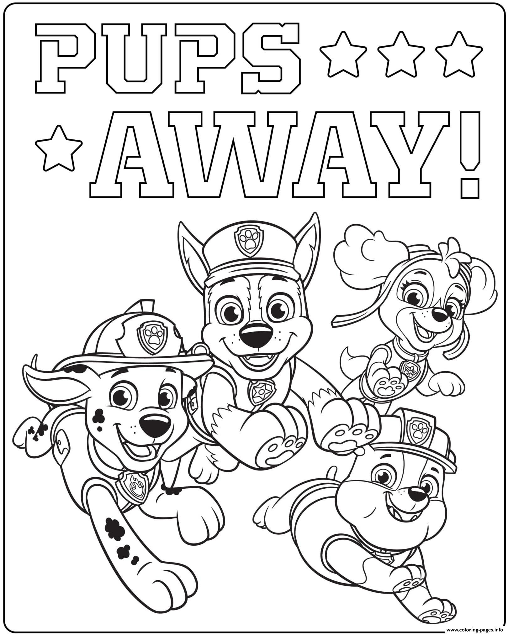 Paw Patrol Coloring Pages Birthday Images