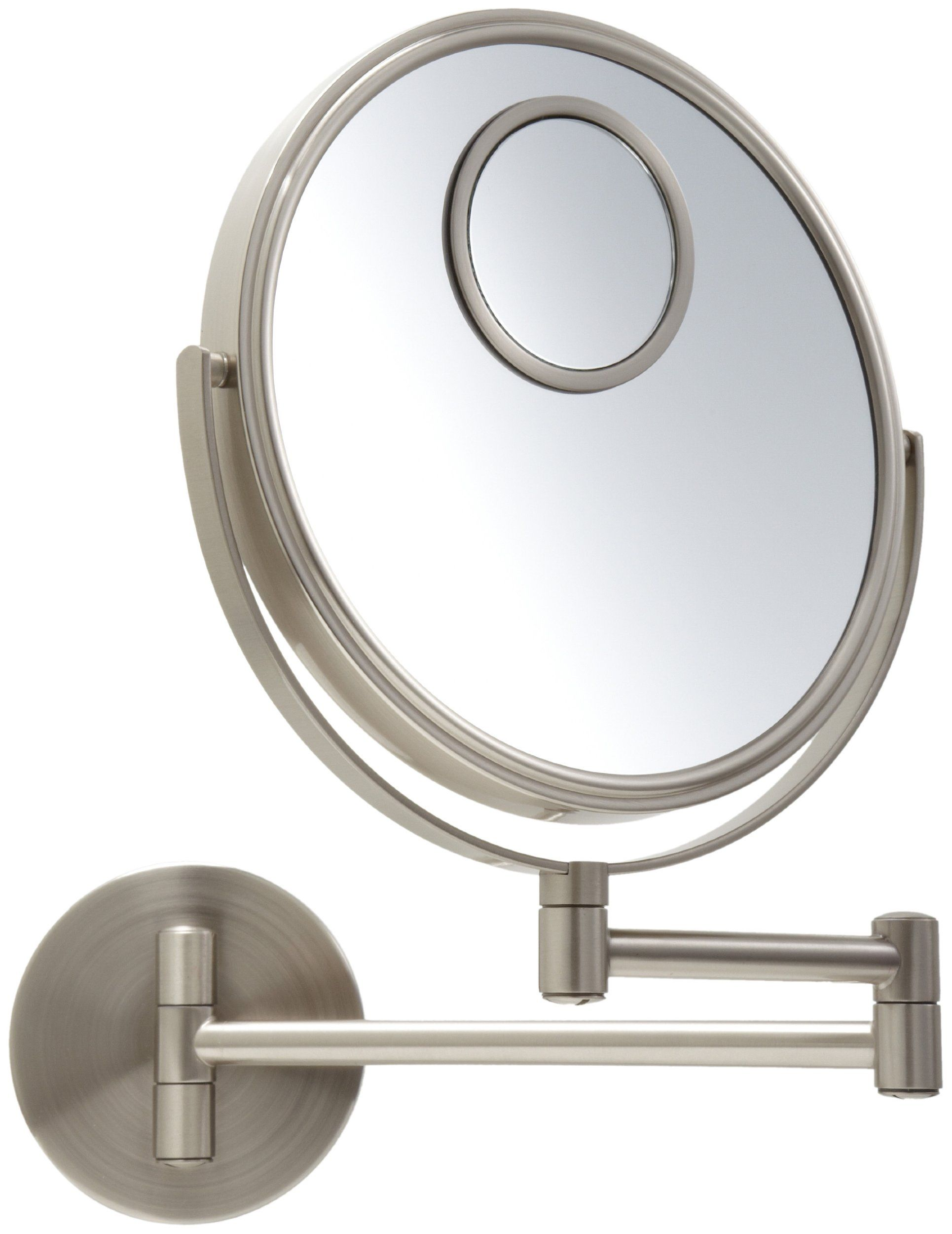 Jerdon JP7510N 8Inch Wall Mount Makeup Mirror with 10x and
