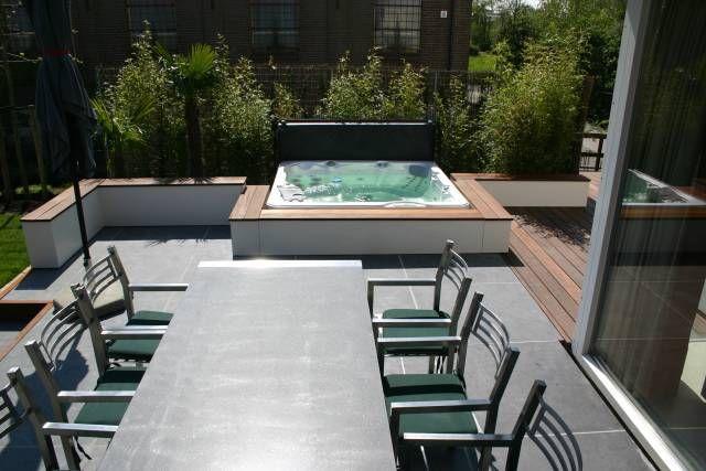 Moderne jacuzzi tuin pinterest jacuzzi terras en zoeken for Moderne tuin met jacuzzi