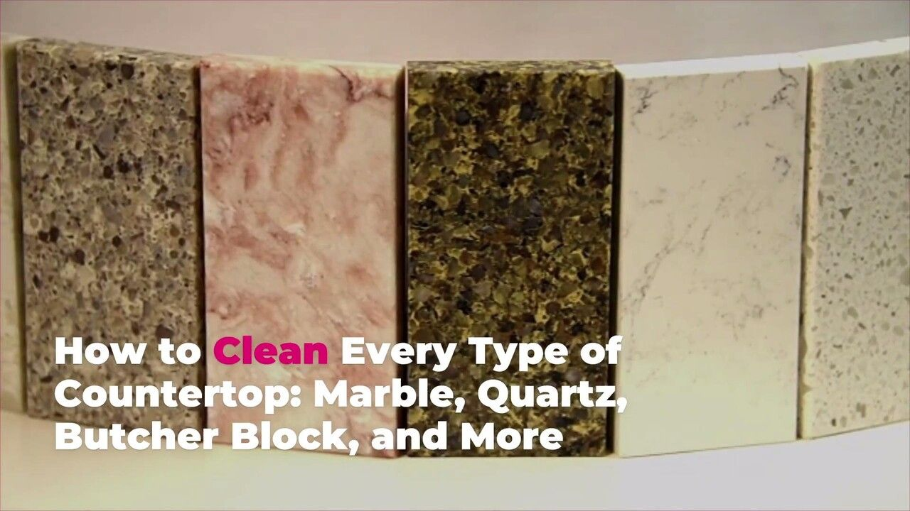 How to Clean Every Type of Countertop Marble, Quartz