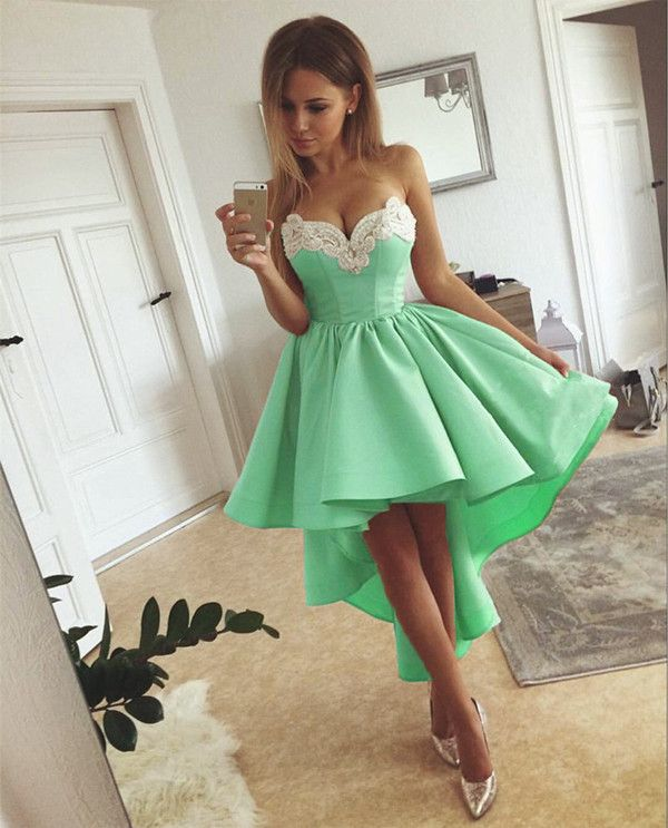 2018 high low prom dresses