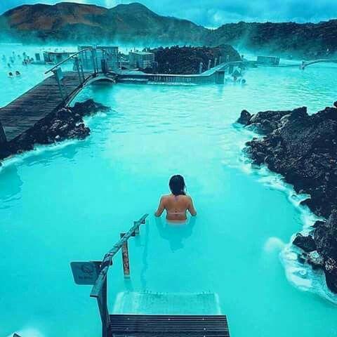 Lagoa azul na Islândia ❣❣