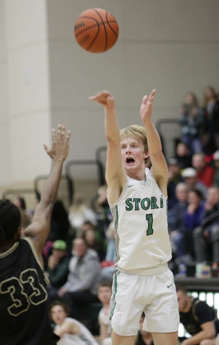 Summit S Jacob Tompkins Shoots A 3 Pointer High School Sports Sports Pictures Sports