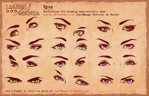 Semi Realistic Manga Eyes Cartoon Eyes Eye Drawing Drawings