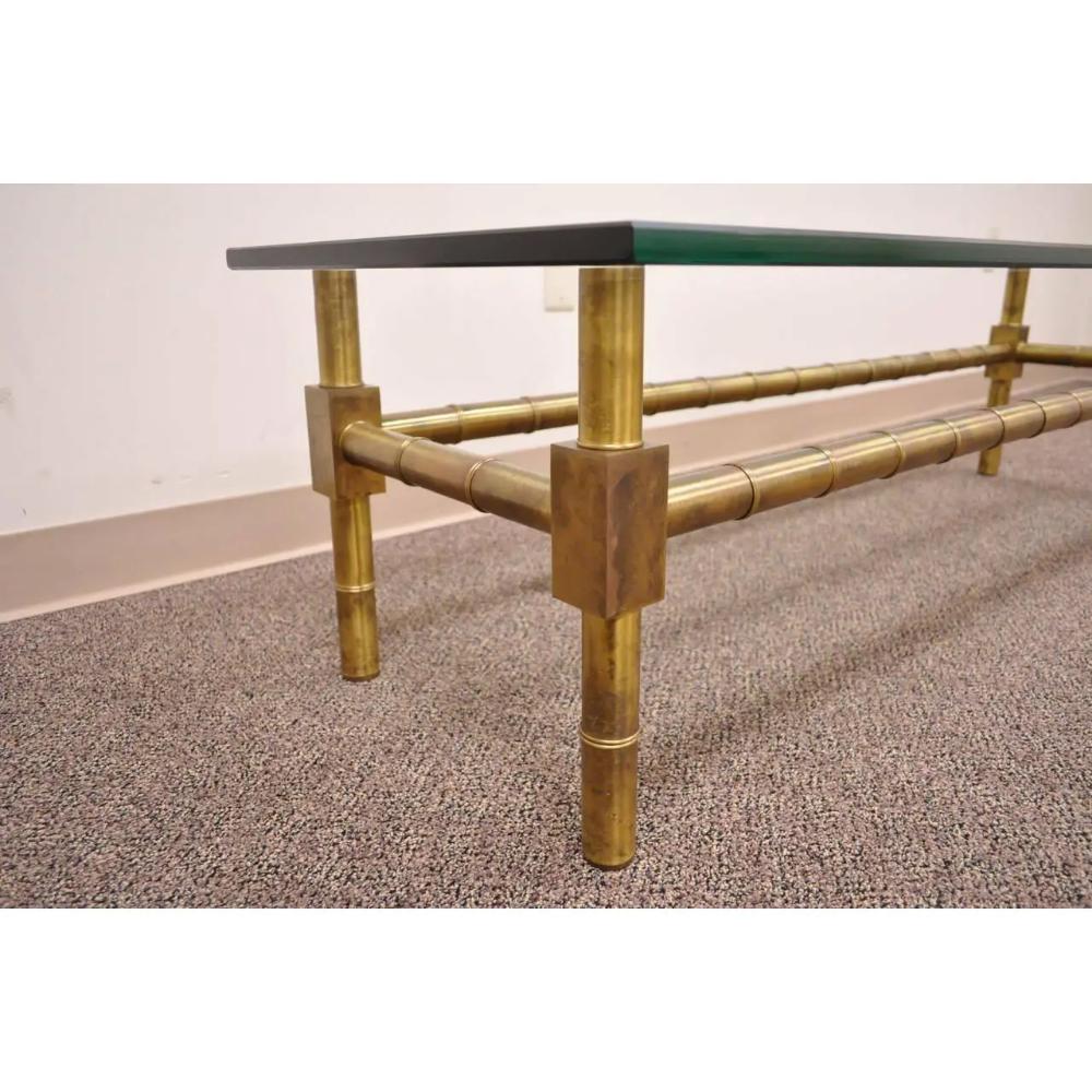 1960s Hollywood Regency Mastercraft Brass Faux Bamboo Rectangular Glass Coffee Table Rectangular Coffee Table Rectangular Glass Coffee Table Glass Coffee Table [ 1000 x 1000 Pixel ]