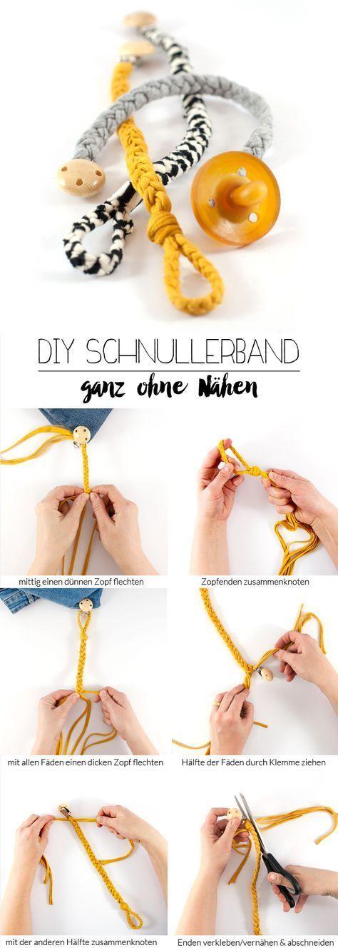DIY Schnullerband - ein Last-Minute Geschenk für Babys #gifts