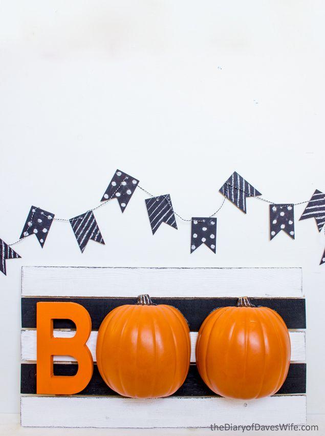Halloween BOO Pumpkin Sign - such a fun Halloween decoration - halloween cute decorations