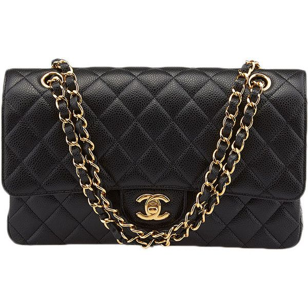 ee4dd131e226 Pre-owned Chanel 2.55 Black Caviar Quilted Leather Double Flap... ($4,000