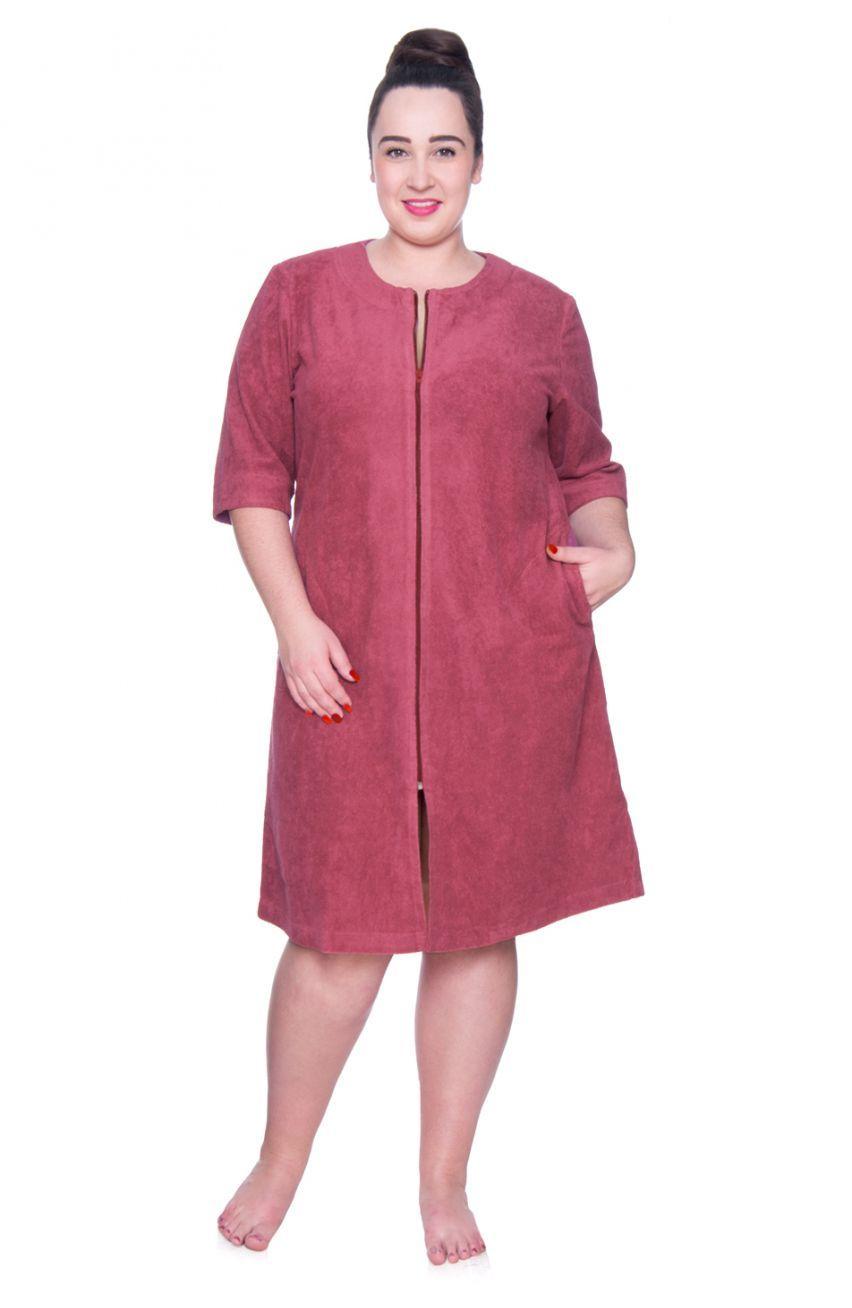 Szlafrok Podomka W Kolorze Jagodowym Modne Duze Rozmiary Shirts Fashion Dresses