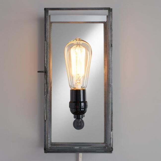 Gl Rectangle Nora Wall Sconce
