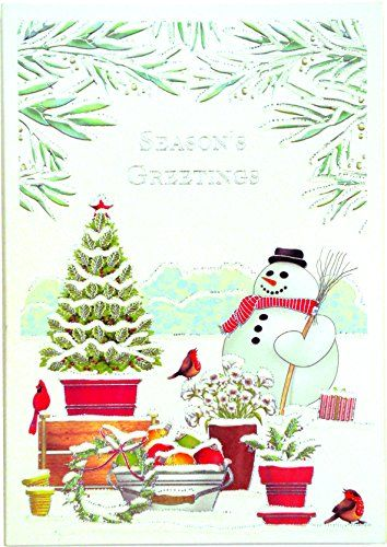 design design snowman and potted plants boxed christmas cards 18176803 you can get additional details at the image link this is an affiliate