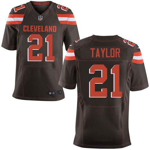 mens nike cleveland browns 21 jamar taylor elite brown team color nfl jersey