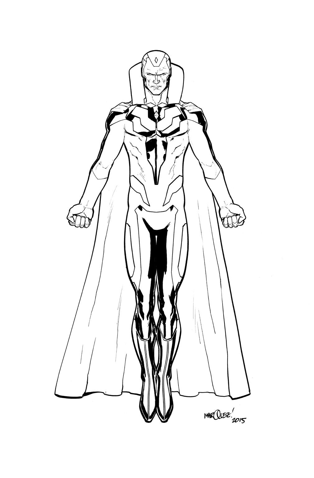 Marvel Avengers And Vision Coloring