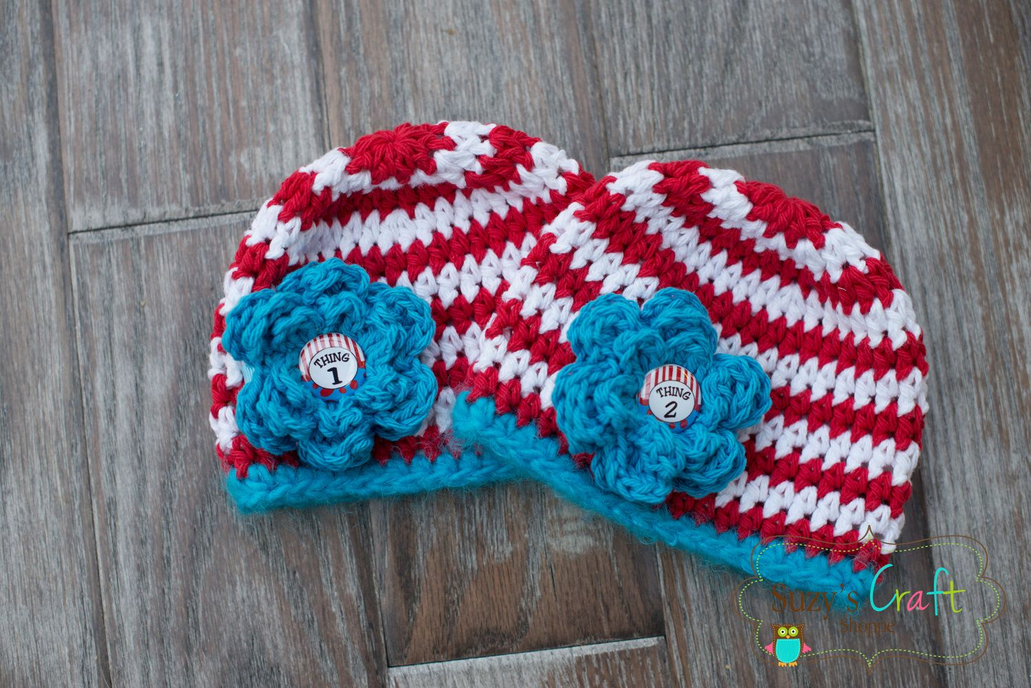Dr Suess Cat in the Hat, Newborn Crochet Beanie with removable ...