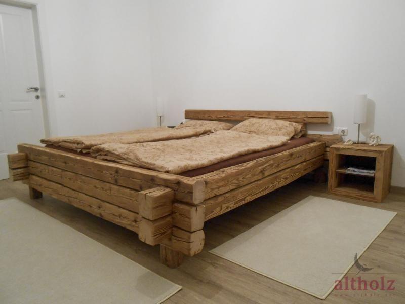 Bildergebnis Fur Bett Aus Holzbalken Selber Bauen Bastelideen In