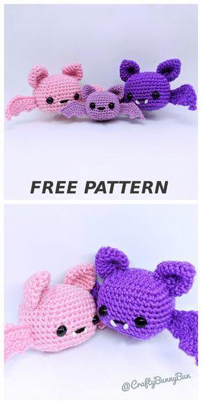Spooky Batty Bat pattern by Crafty Bunny Bun #amigurumifreepattern