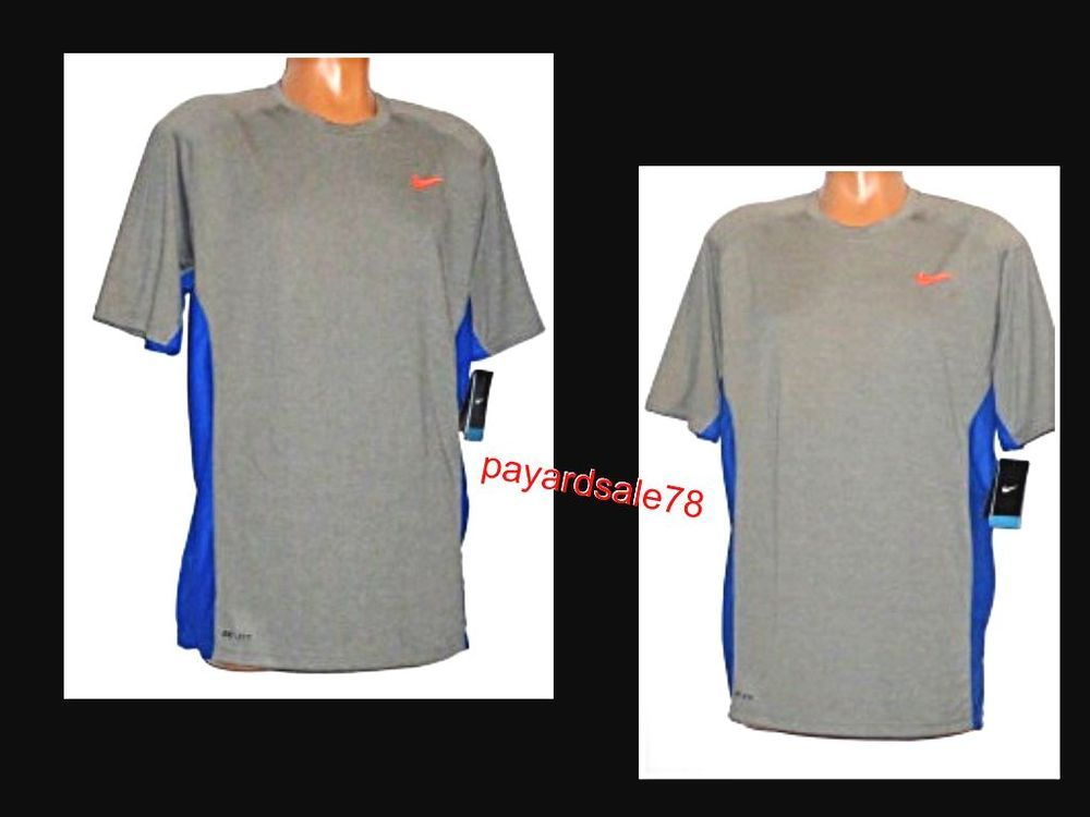 Men S Size Large Nike Zoned Cooling T Shirt Dri Fit Gray 596458