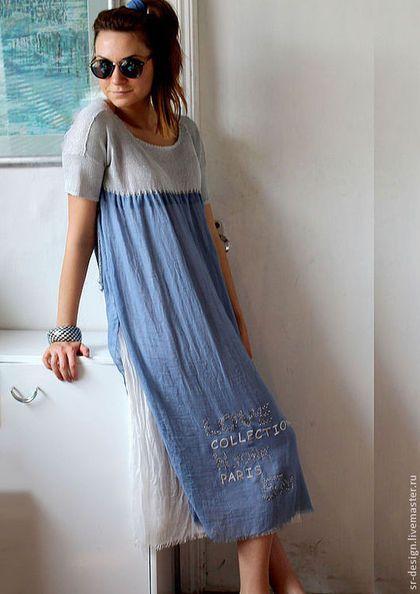 2c4bc74076d Платья ручной работы. Ярмарка Мастеров - ручная работа платье бохо голубое  небо. Handmade.