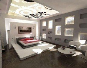 Bedroom Coffee Table Modern Room Decor Futuristic Bedroom