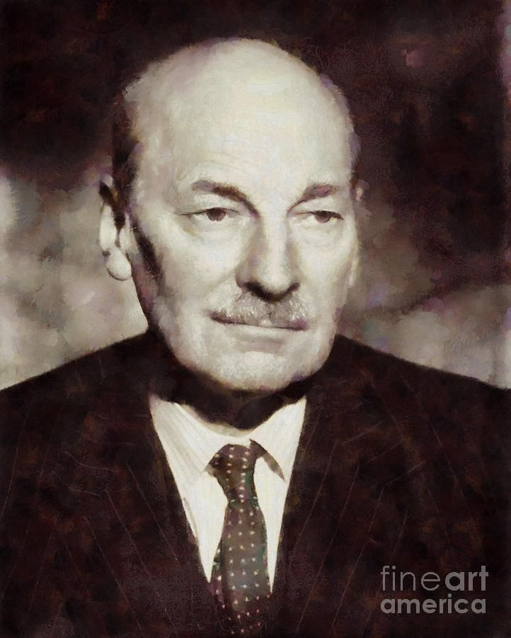 Painting - Clement Attlee, Prime Minister United Kingdom By Sarah Kirk by Esoterica Art Agency #affiliate , #AFFILIATE, #AFF, #Prime, #Painting, #Clement, #Minister
