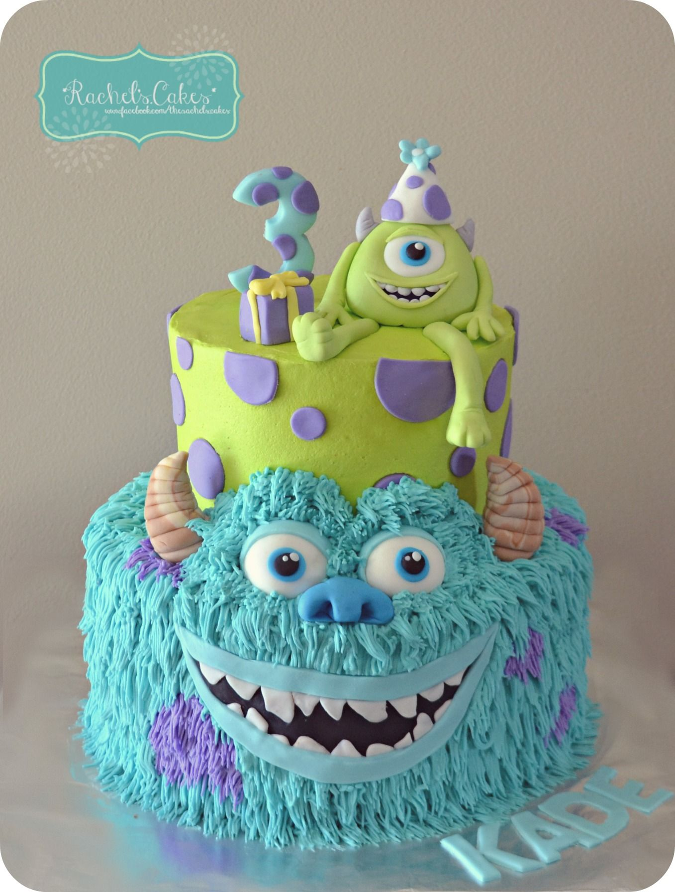 Sensational Monsters Inc Cake Inspired By Another Pinterest Pin With Personalised Birthday Cards Sponlily Jamesorg