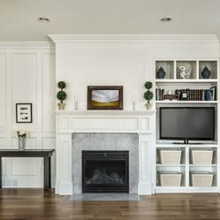 Asymmetrical Built In Like The Fireplace We Have With Door On One Side Built In Cou Traditional Family Rooms Fireplace Built Ins Living Room With Fireplace