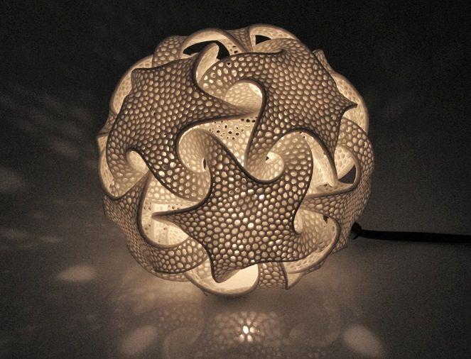 Complex Geometric Lamp Designs Produced With 3d Printing 3d Drucker Geometrische Formen Und 3d Prints