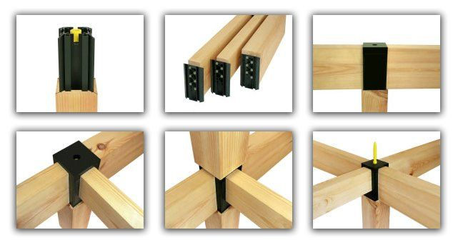 Timber connectors photo detailed about