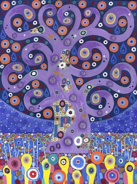 Peacock Tree by David Newton | Artgallery.co.uk
