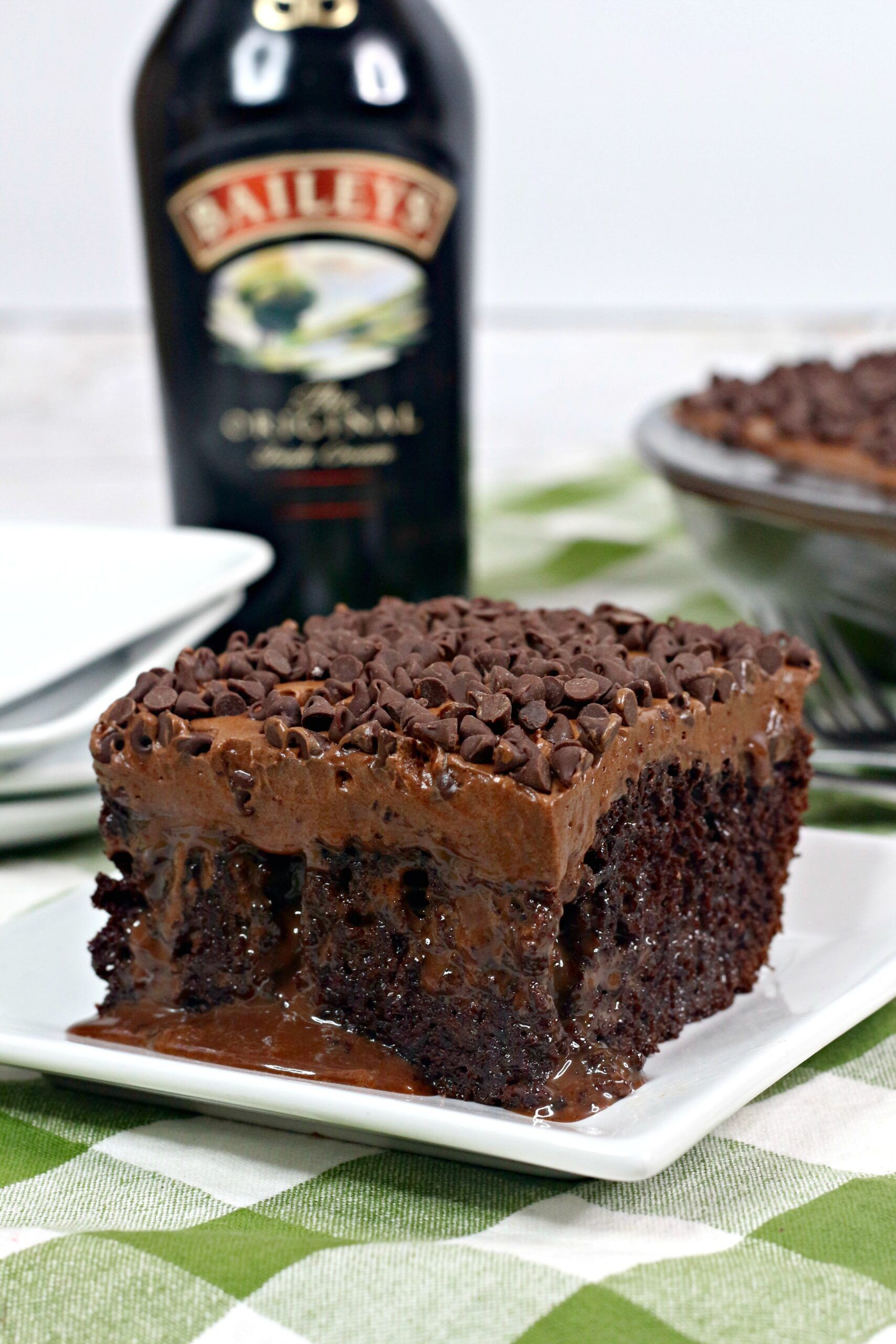 Baileys Irish Cream Chocolate Cake with Baileys Buttercream Frosting
