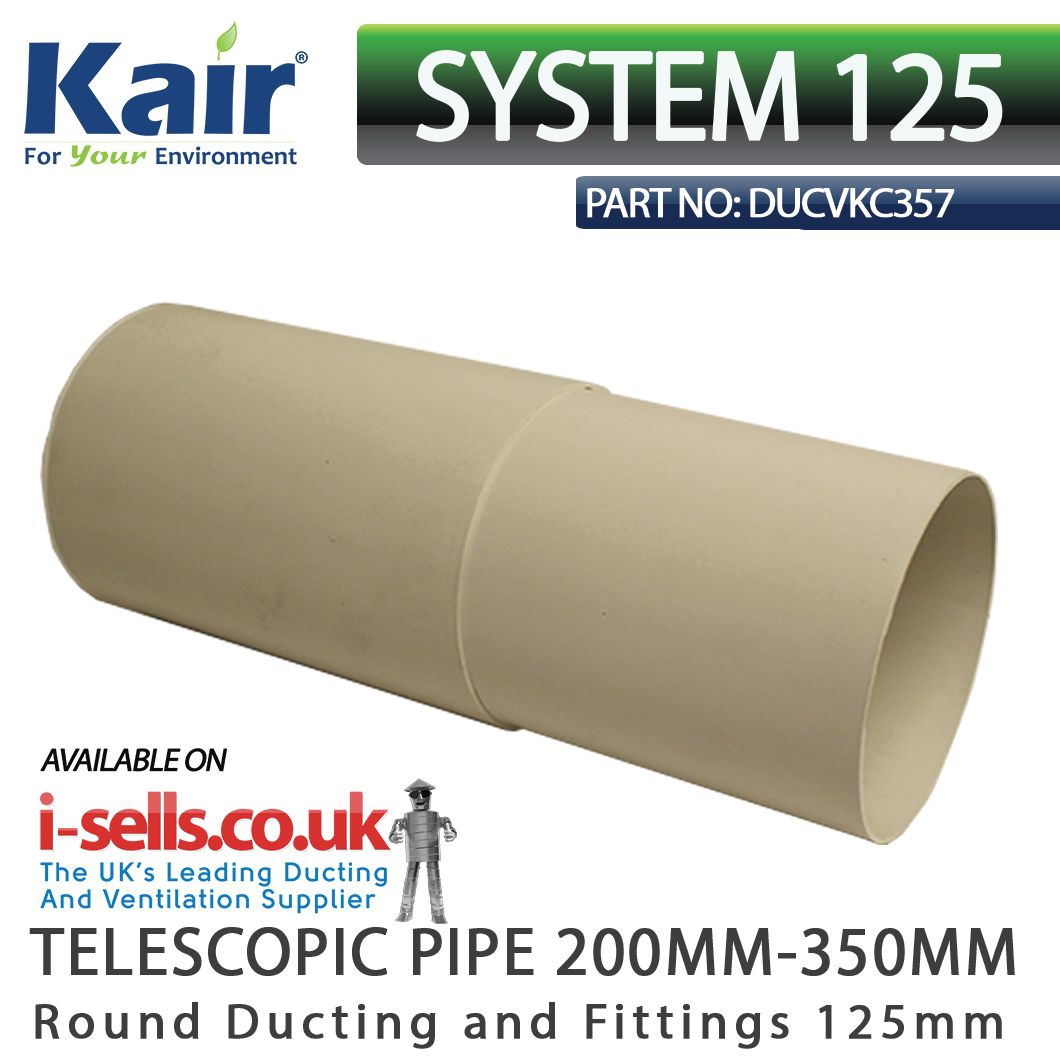 Pin On System 125mm Ducting And Fittings 150x70mm