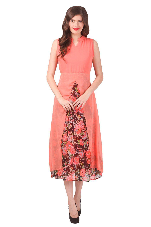 d571db6b36 peach color stupendous one piece dress