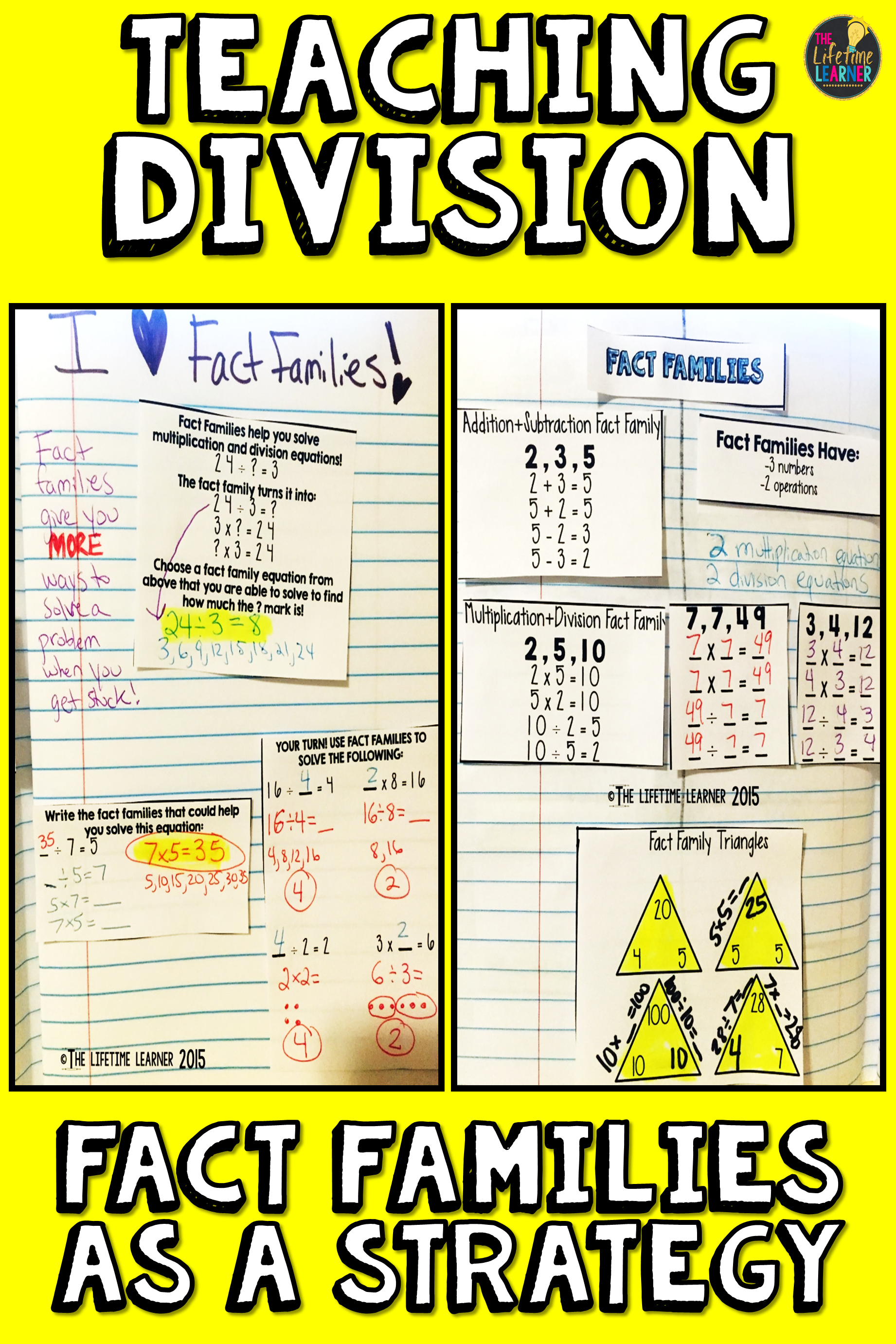Multiplication And Division Using Fact Families