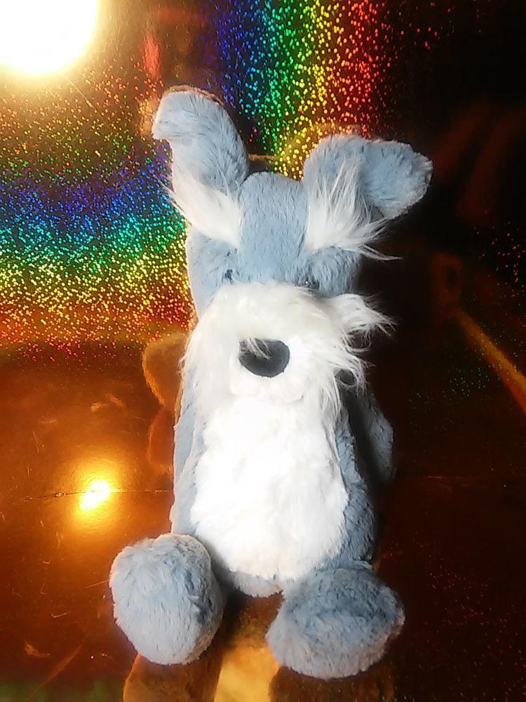 Jellycat London Bashful Schnauzer Grey Gray Puppy Dog Soft