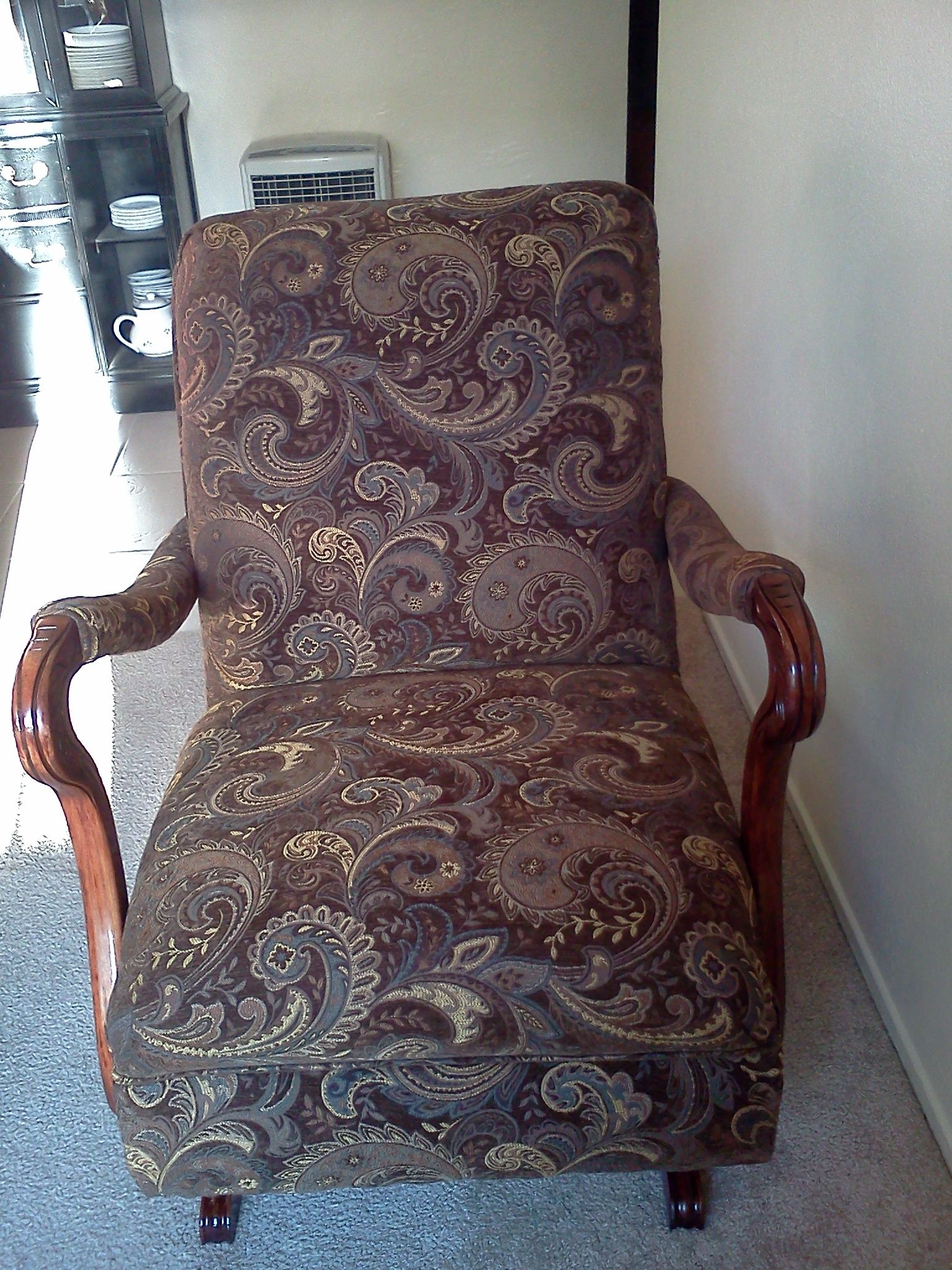 refinished and reupholstered antique platform rocker · Recover ChairsVintage  ChairsVintage Rocking ... - Refinished And Reupholstered Antique Platform Rocker Things I
