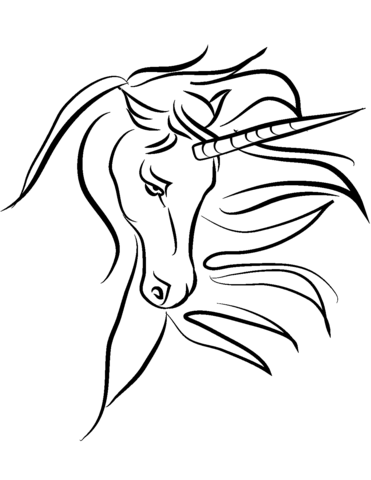 Beautiful Unicorn Coloring Page Obrazky V Roce 2018 Pinterest