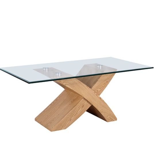 This contemporary Xanti Oak Coffee Table enhances the beauty of your