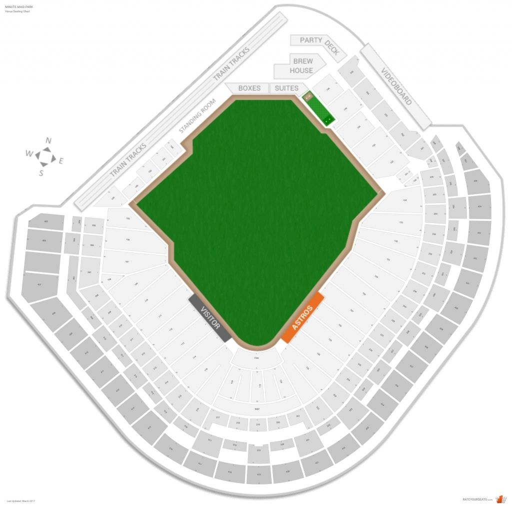 Minute Maid Park Seating Chart With Seat Numbers
