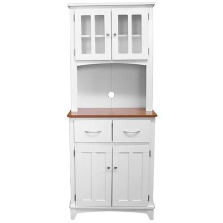 Oak Hills Tall White Microwave Cabinet $199.91 Or Coffee Station Add Hooks  To Show Off Cute Coffee Mugs