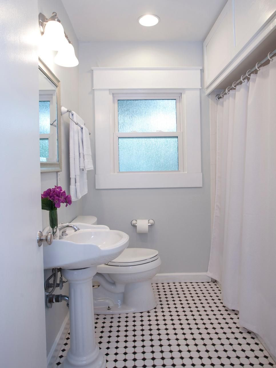 Property Brothers Bathroom Designs Elegant Small Bath Hgtv Shares the 25 Best Room Makeovers by Diy Bathroom Remodel, Bathroom Renos, White Bathroom, Bathroom Renovations, Bathroom Flooring, Bathroom Makeovers, Bathroom Ideas, Restroom Ideas, Bling Bathroom