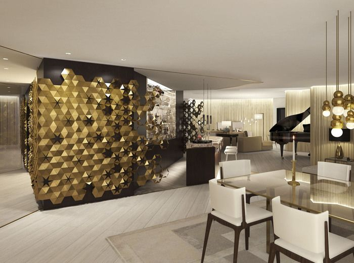 Beautiful Bronze Detail Wall: 1508 Londonu0027s Design For The New Presidential Suite At  The Hyatt Regency Delhi. The New Bronze Age   Interior Design   How To  Spend It